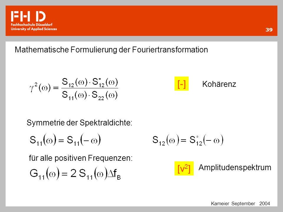 [-] [v2] Mathematische Formulierung der Fouriertransformation Kohärenz